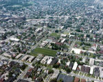 Aerial view of Milwaukee, WI campus